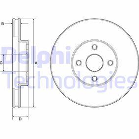 Disco de freno Eje delantero, Ø: 275mm, ventilado BG3780
