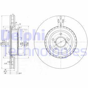 Bremsscheibe Bremsscheibendicke: 30mm, Lochanzahl: 5, Ø: 326mm mit OEM-Nummer 26300 FE010