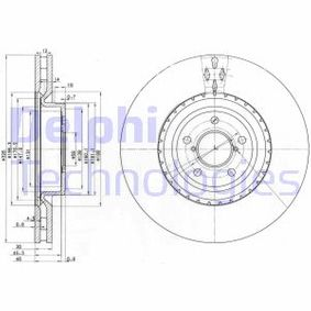 DELPHI  BG3818 Bremsscheibe Bremsscheibendicke: 30mm, Lochanzahl: 5, Ø: 326mm