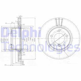 Bremsscheibe Bremsscheibendicke: 24mm, Lochanzahl: 5, Ø: 310mm mit OEM-Nummer 34116764021