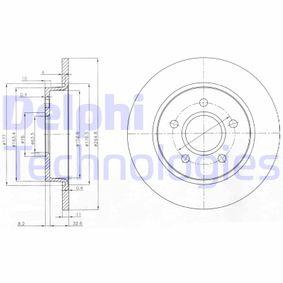 2013 Mazda 3 BL 1.6 MZR CD Brake Disc BG3896