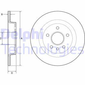 Disco freno (BG3897) per per Centralina Elettronica / Relè / Sensori FORD FOCUS C-MAX 2.0 TDCi dal Anno 10.2003 136 CV di DELPHI