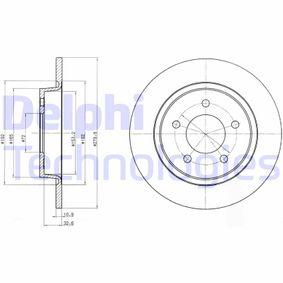 Disco de freno BG3930 3 (BK) 2.3 MZR ac 2007