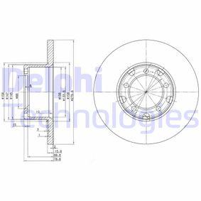Disque de frein Essieu avant, Ø: 280mm, plein BG2265