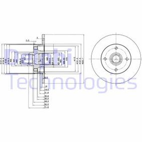 Bremsscheibe Bremsscheibendicke: 10mm, Ø: 226mm mit OEM-Nummer 191501639A