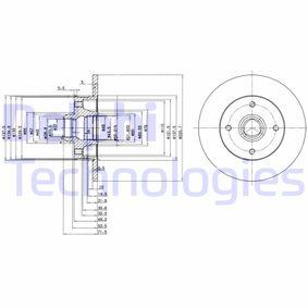 DELPHI  BG2389 Bremsscheibe Bremsscheibendicke: 10,1mm, Lochanzahl: 4, Ø: 226mm