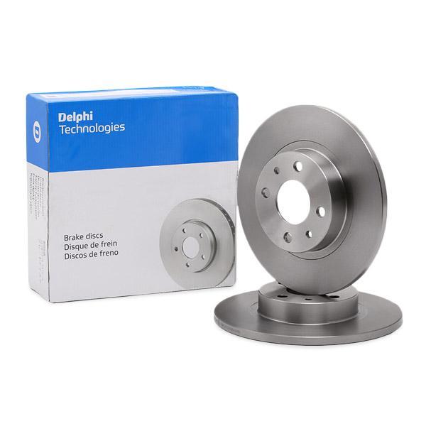 DELPHI спирачен диск ляво, дясно, предна ос, Ø: 257мм, плътен BG2411