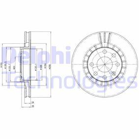 Bremsscheibe Bremsscheibendicke: 24mm, Lochanzahl: 4, Ø: 256mm mit OEM-Nummer 5 69 042