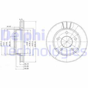 DELPHI  BG2472 Bremsscheibe Bremsscheibendicke: 24mm, Lochanzahl: 5, Ø: 240mm