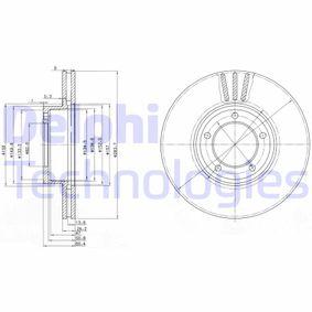 DELPHI  BG2507 Bremsscheibe Bremsscheibendicke: 24mm, Lochanzahl: 5, Ø: 284mm