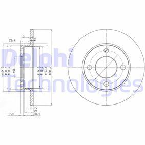 DELPHI Bremsscheibe BG2517 für AUDI COUPE (89, 8B) 2.3 quattro ab Baujahr 05.1990, 134 PS