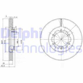 Bremsscheibe Bremsscheibendicke: 22mm, Lochanzahl: 6, Ø: 257mm mit OEM-Nummer 8.94372.435.0