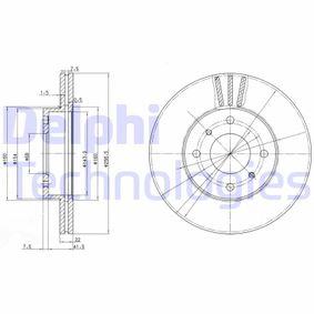 DELPHI  BG2567 Bremsscheibe Bremsscheibendicke: 22mm, Lochanzahl: 4, Ø: 257mm