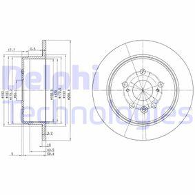 Disque de frein Epaisseur du disque de frein: 10mm, Nbre de trous: 5, Ø: 269mm avec OEM numéro 42431 20 320