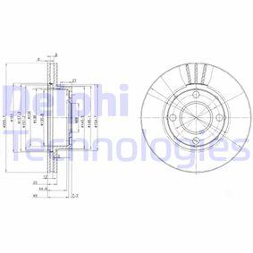 DELPHI Bremsscheibe BG2668 für AUDI COUPE (89, 8B) 2.3 quattro ab Baujahr 05.1990, 134 PS