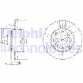 Bremsscheibe Bremsscheibendicke: 21mm, Ø: 240mm mit OEM-Nummer 45251-SR0-A10