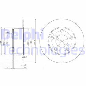 Stoßstangenhalterung VW PASSAT Variant (3B6) 1.9 TDI 130 PS ab 11.2000 DELPHI Bremsscheibe (BG2746) für