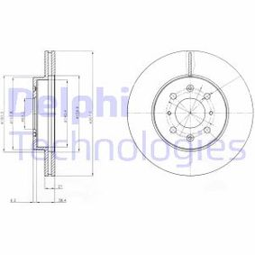 Спирачен диск BG2759 25 Хечбек (RF) 2.0 iDT Г.П. 2004