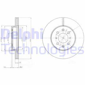 DELPHI  BG2759 Спирачен диск дебелина на спирачния диск: 21мм, брой на дупките: 4, Ø: 262мм
