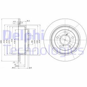 Remschijf Achteras, Ø: 266mm, Massief BG2826