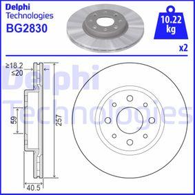 Bremsscheibe Bremsscheibendicke: 20mm, Ø: 257mm mit OEM-Nummer 51 749 124