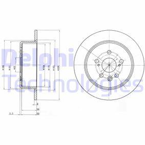 Disque de frein Épaisseur du disque de frein: 9mm, Nbre de trous: 5, Ø: 268mm avec OEM numéro 42431 20200
