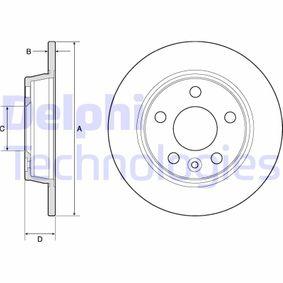 Bremsscheibe Bremsscheibendicke: 10mm, Ø: 268mm mit OEM-Nummer 1 137 985