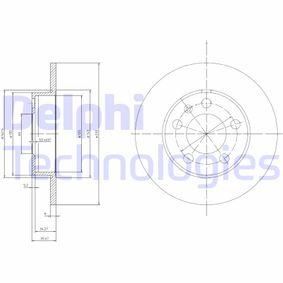 Depósito Compensación de Dirección Asistida SEAT LEON (1M1) 1.9 TDI de Año 10.2005 100 CV: Disco de freno (BG3034) para de DELPHI