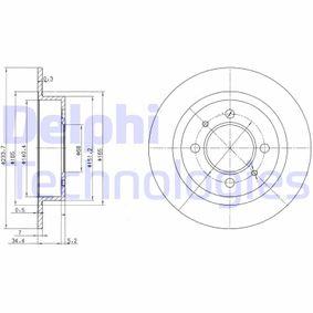 Bremsscheibe Bremsscheibendicke: 7mm, Lochanzahl: 4, Ø: 234mm mit OEM-Nummer 4320658Y02