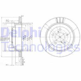 Remschijf Achteras, Ø: 266mm, Geventileerd BG3154