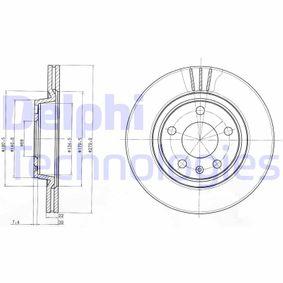 DELPHI Bremsscheibe BG3198 für AUDI A4 (8E2, B6) 1.9 TDI ab Baujahr 11.2000, 130 PS