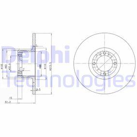 Bremsscheibe Bremsscheibendicke: 9,6mm, Lochanzahl: 4, Ø: 213,5mm mit OEM-Nummer 21 A 2612