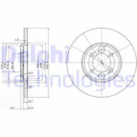 Bremsscheibe Bremsscheibendicke: 12,8mm, Lochanzahl: 4, Ø: 264mm mit OEM-Nummer C 46113