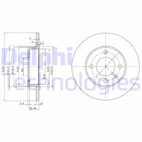 DELPHI  BG2117 Bremsscheibe Bremsscheibendicke: 10mm, Lochanzahl: 4, Ø: 239mm