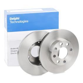 DELPHI Disco de travão BG2148 com códigos OEM 569030
