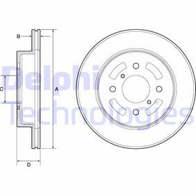 DELPHI  BG3941 Bremsscheibe Bremsscheibendicke: 17mm, Lochanzahl: 4, Ø: 257mm