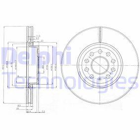 DELPHI Bremsscheibe BG3953 mit OEM-Nummer 1K0615301AA