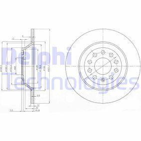 DELPHI Bremsscheibe BG3956 für AUDI A6 (4B2, C5) 2.4 ab Baujahr 07.1998, 136 PS
