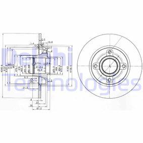 Sensor del Pedal del Acelerador PEUGEOT 307 SW (3H) 1.6 BioFlex de Año 09.2007 109 CV: Disco de freno (BG3962) para de DELPHI