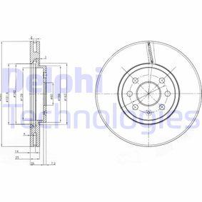 Bremsscheibe BG3989 Meriva A (X03) 1.7 CDTI (E75) Bj 2008