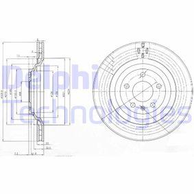 DELPHI Bremsscheibe BG3991 für AUDI A6 (4B2, C5) 2.4 ab Baujahr 07.1998, 136 PS