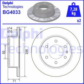 Bremsscheibe BG4033 CRAFTER 30-50 Kasten (2E_) 2.0 TDI Bj 2016