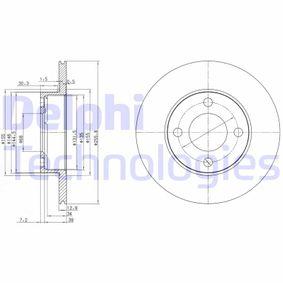 DELPHI  BG2215 Bremsscheibe Bremsscheibendicke: 13mm, Lochanzahl: 4, Ø: 256mm
