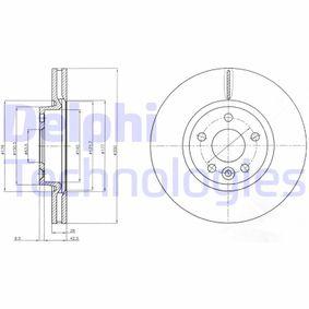 Bremsscheibe Bremsscheibendicke: 28mm, Lochanzahl: 5, Ø: 300mm mit OEM-Nummer 7G91 1125 BA