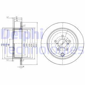 DELPHI  BG4158 Bremsscheibe Bremsscheibendicke: 10mm, Lochanzahl: 5, Ø: 285,7mm