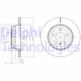 Junta de Cárter de Distribución BMW X5 (E70) 3.0 d de Año 02.2007 235 CV: Disco de freno (BG4168) para de DELPHI