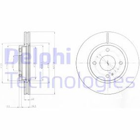 Brake Disc Brake Disc Thickness: 23mm, Num. of holes: 4, Ø: 258mm with OEM Number 1 892 667