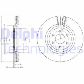 Bremsscheibe Bremsscheibendicke: 28mm, Lochanzahl: 6, Ø: 320mm mit OEM-Nummer 40206-5X01A