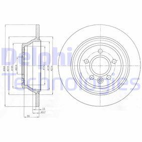 Bremsscheibe Bremsscheibendicke: 12mm, Lochanzahl: 5, Ø: 302mm mit OEM-Nummer 30 769 058
