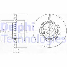 Bremsscheibe Bremsscheibendicke: 28mm, Lochanzahl: 5, Ø: 320mm mit OEM-Nummer 402064155R